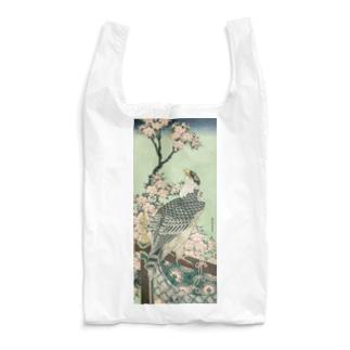 葛飾 北斎 《桜花・鷹》 Reusable Bag