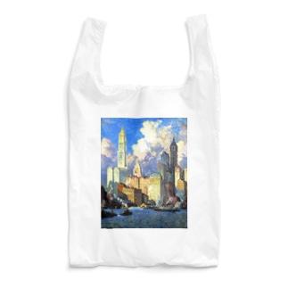 世界の絵画アートグッズのコリン・キャンベル・クーパー 《ハドソン河畔》 Reusable Bag
