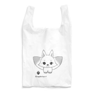 白狐のしこちゃん♂ Reusable Bag