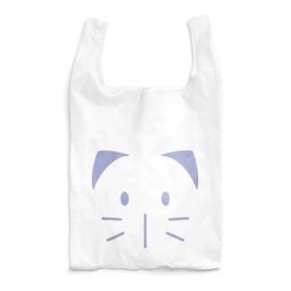 ヤシログラムショップのねこ・ねこ丸 アイリスフェイス柄 Reusable Bag