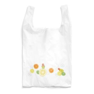 ラブバとフルーツ(横長) Reusable Bag