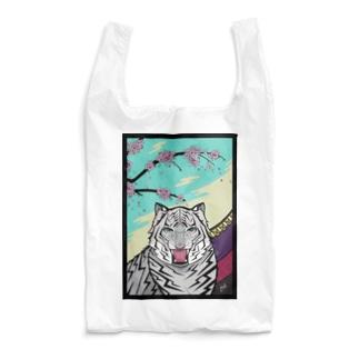 桜に幕 Reusable Bag