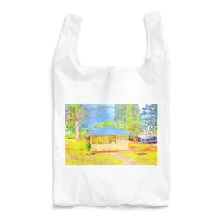 ラナイ島にある小さく可愛いBank of Hawaii(イラスト) Reusable Bag