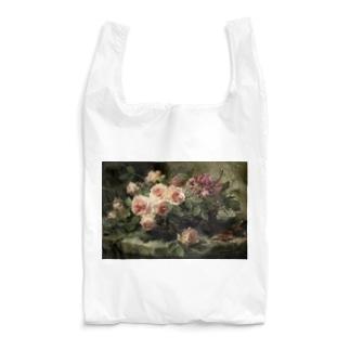 フランス・モルテルマン《バスケットのピンクの薔薇》 Reusable Bag