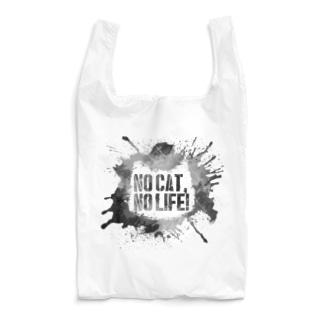NO CAT, NO LIFE! (mono) Reusable Bag
