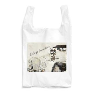 わがやの.クラシックカーとサビ猫さん Reusable Bag