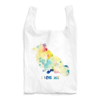 シェルティ×コーギーMIXお座り【パレット】 Reusable Bag
