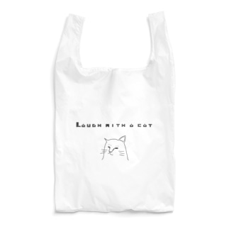 Laugh with a cat (ねこと笑う) Reusable Bag