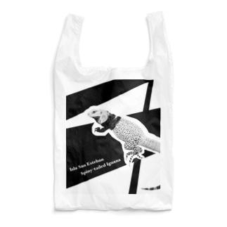 エースのレプタイルグッズのサンエステバントゲオイグアナ黒基調グッズ Reusable Bag