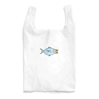 お魚くわえたハチワレ猫 Reusable Bag