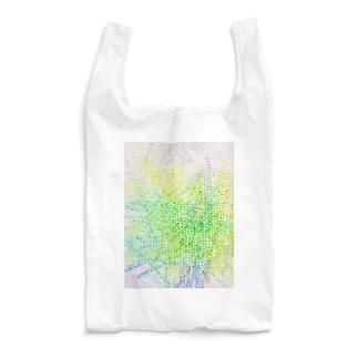 子供のらくがき【緑キャンバス】 Reusable Bag