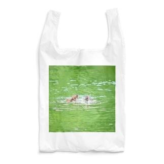 カイツブリ親子のごちそう Reusable Bag