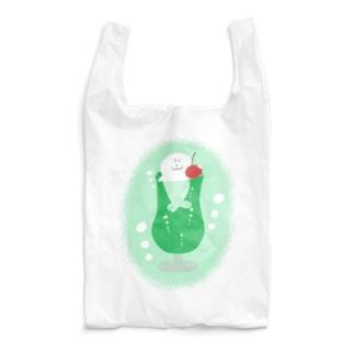 メロンクリームソーダあざらし(背景あり) Reusable Bag