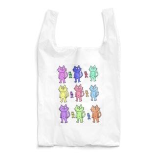 カラフル猫さん Reusable Bag