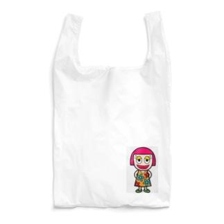 オカッパ娘 Reusable Bag