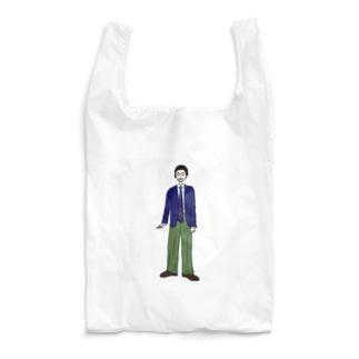 紺ブレを軍パンで着崩しました Reusable Bag