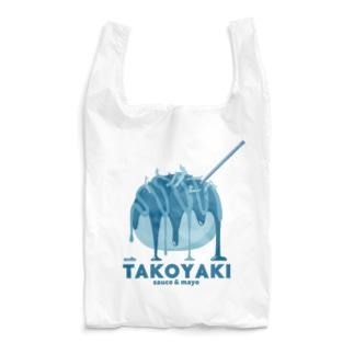 たこ焼き 青 Reusable Bag