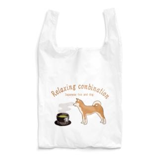 日本の犬とお茶 カラーバージョン Reusable Bag
