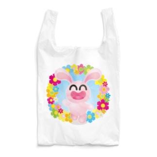 まるちの花うさぎ Reusable Bag