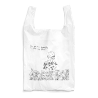 Flowers & Girls Reusable Bag