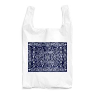 ネイビーペイズリー Reusable Bag