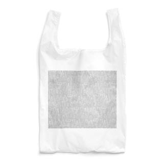 ビーカーくんたちグレー×白 Reusable Bag