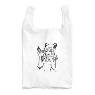 おかっぱ ミユキのセクシーなうしちゃん Reusable Bag