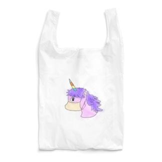 マスク着用済みユニコーン Reusable Bag