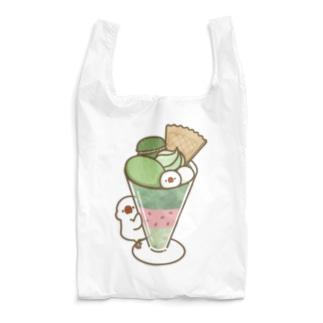 抹茶パフェ文鳥 Reusable Bag