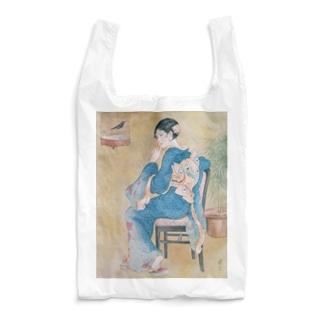 世界の絵画アートグッズの高畠華宵《口まね》 Reusable Bag