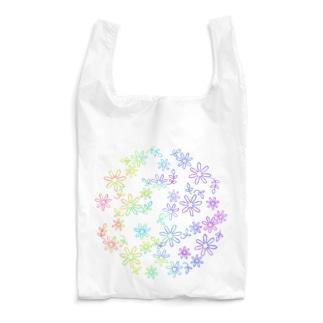 Colorful flower Reusable Bag