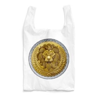ゴージャスなライオンのレリーフ Reusable Bag