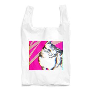 あふぐろ屋の色収差猫 Reusable Bag