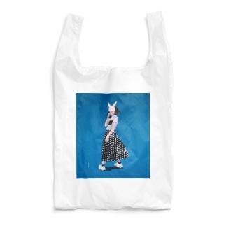 blue girl Reusable Bag