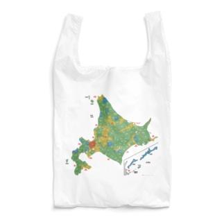 北海道179市町村地図 Reusable Bag