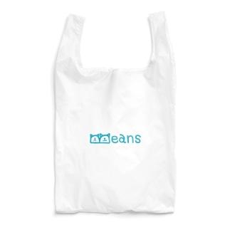 Beans北欧風ブルーロゴ Reusable Bag