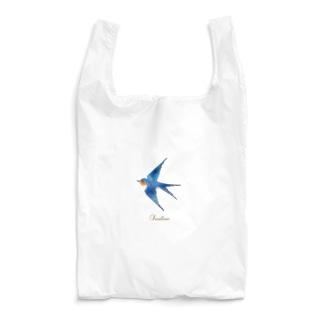 幸せの青いつばめ Reusable Bag