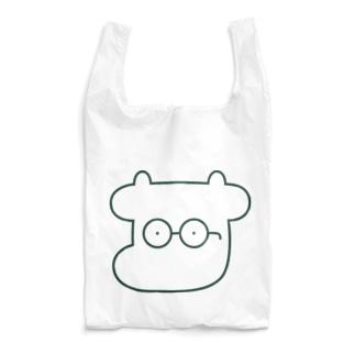 焼肉おじさんのツインカウ-しろ Reusable Bag