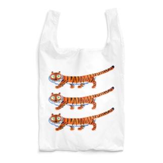 足の短いとらちゃん(三段重ね) Reusable Bag