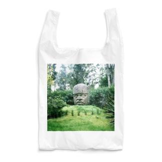 メキシコ:オルメカの巨石人頭像 Mexico: Olmec colossal head Reusable Bag