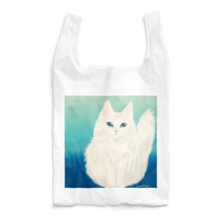 白猫さんさわやかさん Reusable Bag
