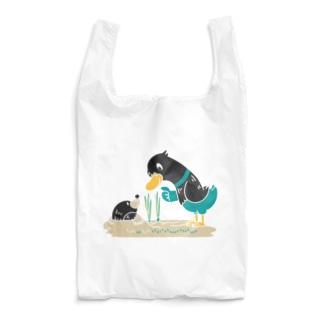 *suzuriDeMONYAAT*のCT159 ネギを値切っている鴨カモ*B*白フチなし*大きいイラスト Reusable Bag