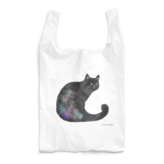クロネコ 水彩 Reusable Bag