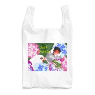 文鳥さんとアマガエル Reusable Bag