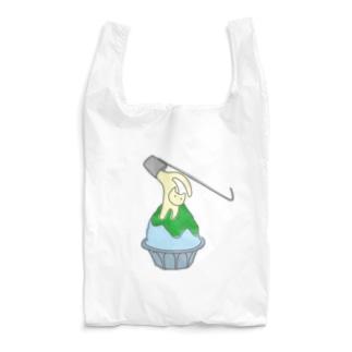 練乳ねこかき氷(メロン/抹茶) Reusable Bag