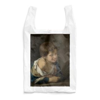 ムリーリョ(スペイン、1617-1682) 《窓枠に身を乗り出した農民の少年》 Reusable Bag