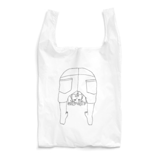 ガォーのりっこ 線画イラスト Reusable Bag