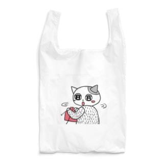 はりきり編み物ネコ Reusable Bag