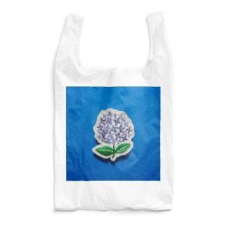 刺繍のアジサイ Reusable Bag