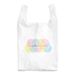 現実世界にフィルターはない。no filters in real life. Reusable Bag